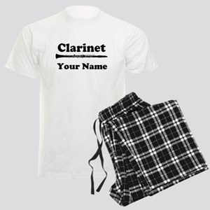 Personalized Clarinet Men's Light Pajamas