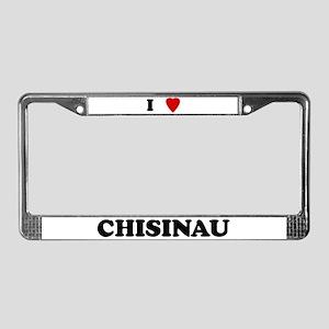 I Love Chisinau License Plate Frame