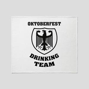 Oktoberfest Drinking Team Throw Blanket