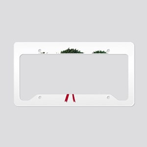 Christmas poodle License Plate Holder