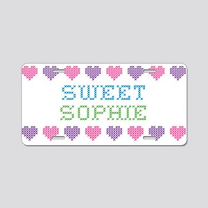 Sweet SOPHIE Aluminum License Plate