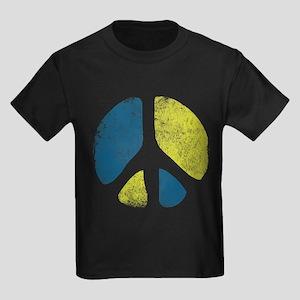 Vintage Peace Sign Kids Dark T-Shirt