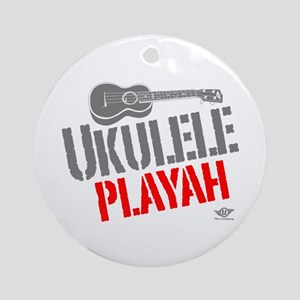Ukulele Playah Ornament (Round)