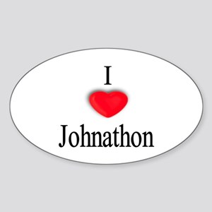 Johnathon Oval Sticker