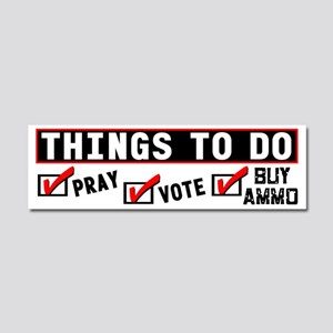 """""""Things To Do"""" Car Magnet"""