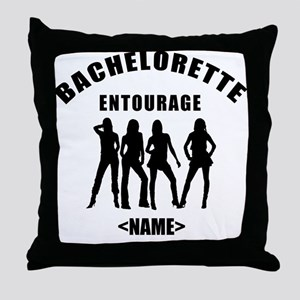 Custom Bachelorette Entourage (Add Name) Throw Pil