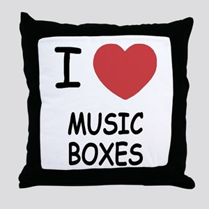 I heart music boxes Throw Pillow