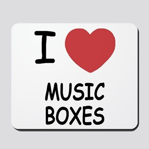 I heart music boxes Mousepad
