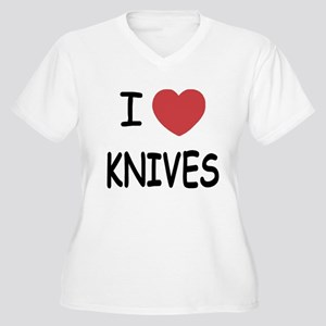 I heart knives Women's Plus Size V-Neck T-Shirt