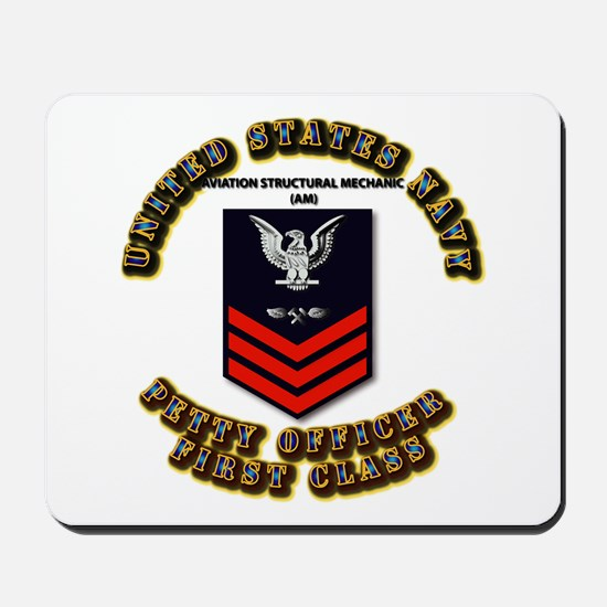 US Navy - AM with text Mousepad