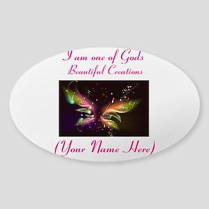Beautiful Creations Sticker (Oval)