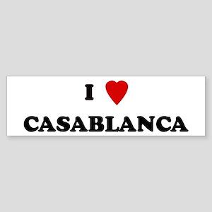 I Love Casablanca Bumper Sticker