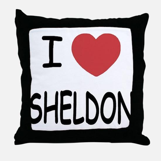I heart sheldon Throw Pillow