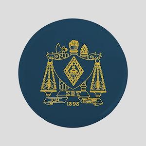 Zeta Beta Tau Fraternity Crest in Yellow wi Button