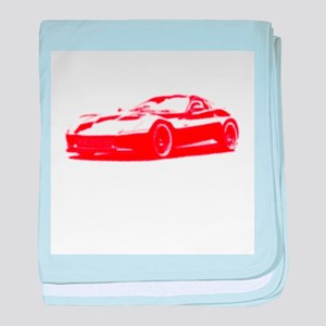Red Sports Car baby blanket