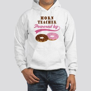 Horn Teacher Gift Donuts Hooded Sweatshirt