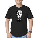 Fawkes 99% Men's Fitted T-Shirt (dark)