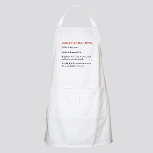 Religion is Like a Penis Apron
