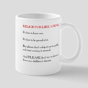 Religion is Like a Penis Mug