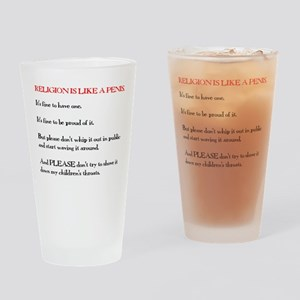 Religion is Like a Penis Drinking Glass
