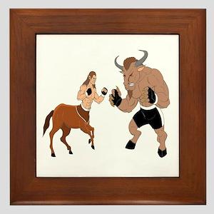 MMA Centuar Vs Minotaur Framed Tile