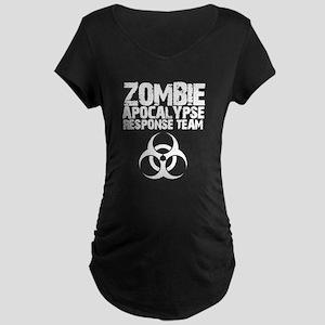 CDC Zombie Apocalypse Respons Maternity Dark T-Shi