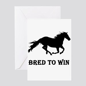 Bred To Win Horse Racing Greeting Card