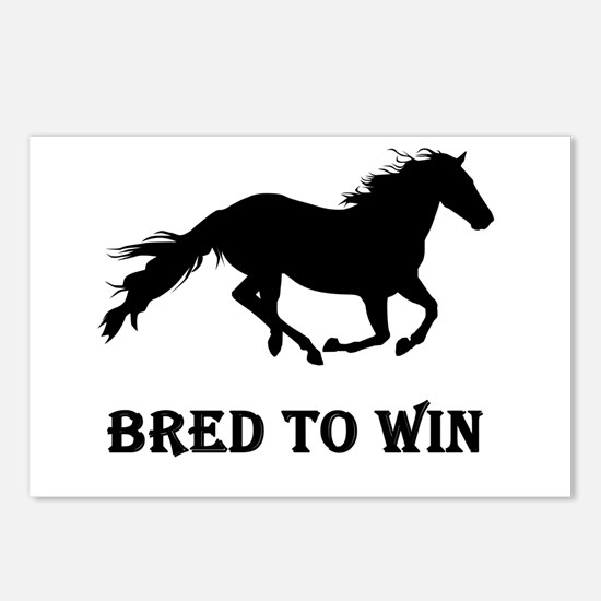 Bred To Win Horse Racing Postcards (Package of 8)