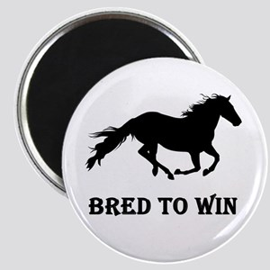 Bred To Win Horse Racing Magnet