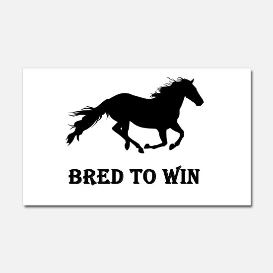 Bred To Win Horse Racing Car Magnet 20 x 12