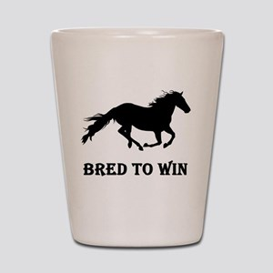 Bred To Win Horse Racing Shot Glass