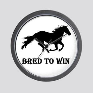 Bred To Win Horse Racing Wall Clock