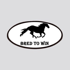 Bred To Win Horse Racing Patches
