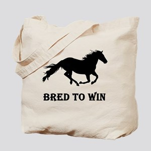 Bred To Win Horse Racing Tote Bag
