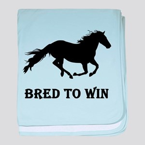 Bred To Win Horse Racing baby blanket