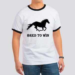 Bred To Win Horse Racing Ringer T