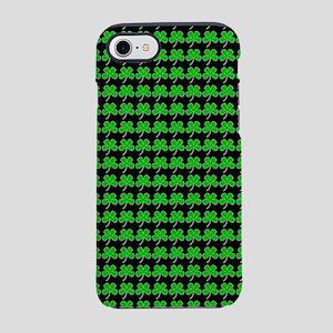 Green Shamrocks St. Patricks D iPhone 7 Tough Case