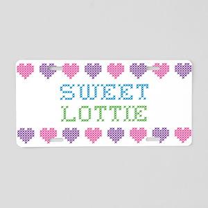 Sweet LOTTIE Aluminum License Plate