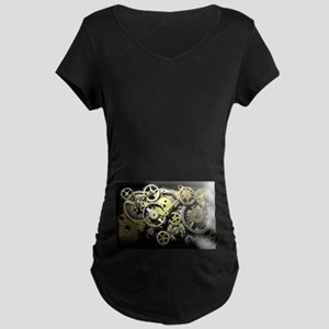 SteamPunk Gears Maternity Dark T-Shirt