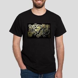 SteamPunk Gears Dark T-Shirt