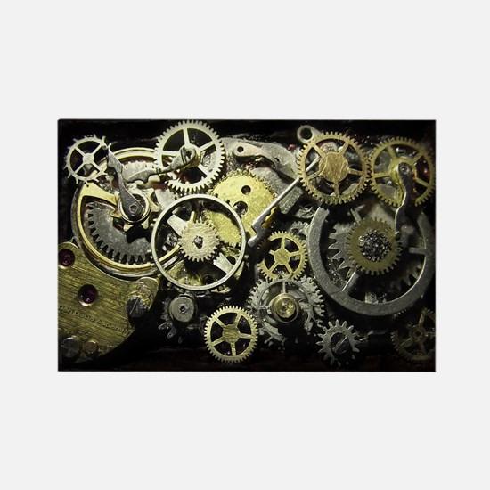 SteamPunk Gears Rectangle Magnet (10 pack)