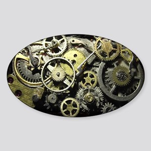 SteamPunk Gears Sticker (Oval)