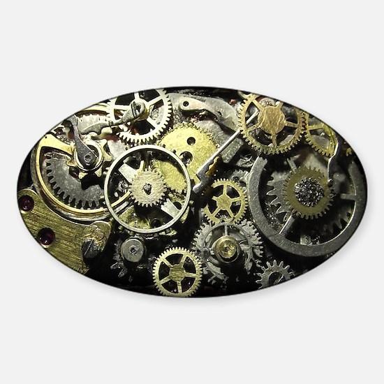 SteamPunk Gears Sticker (Oval)