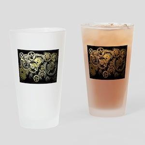 SteamPunk Gears Drinking Glass