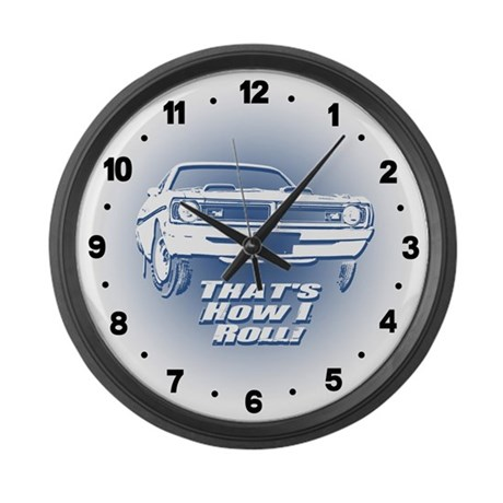 How I Roll - Dodge Demon Large Wall Clock