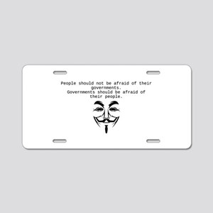 Occupy Aluminum License Plate