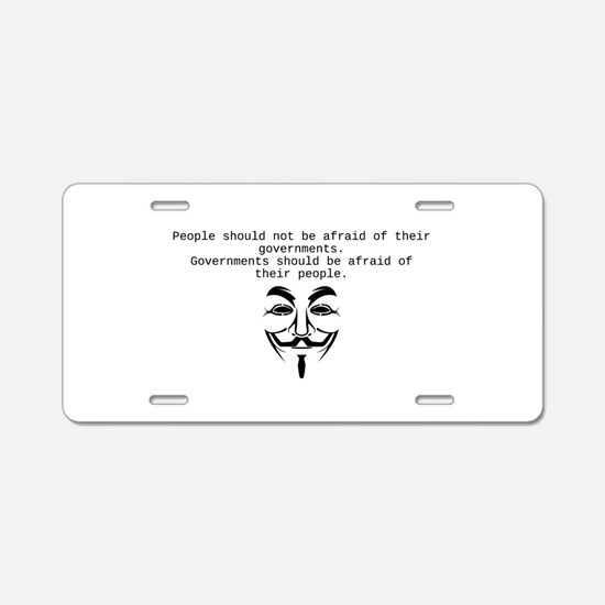 Occupy Aluminum License Plate