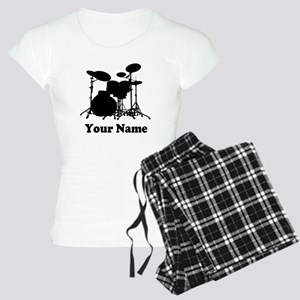 Personalized Drums Women's Light Pajamas