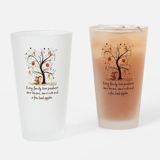 Family Tree Humor Drinking Glass