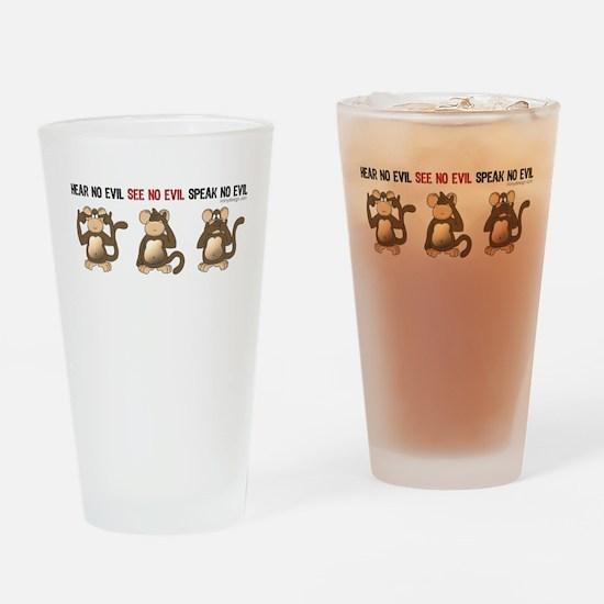 Hear No Evil... Drinking Glass